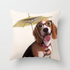 Tessi the party Beagle Throw Pillow