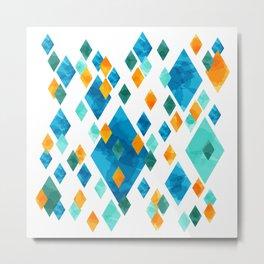 Topsy Turvy Turquoise Metal Print