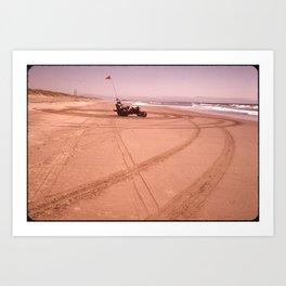 DUNE BUGGY DIGGING TRACKS INTO SAND NARA 543208 Art Print