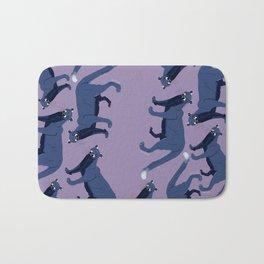 Pattern cougar blue Bath Mat
