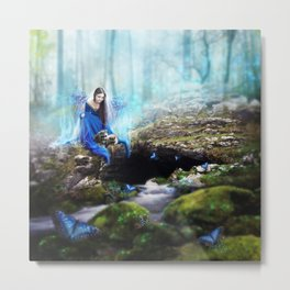 The Blue Lady Metal Print