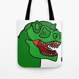 Green T-Rex Tote Bag