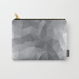 Gray Polygon Background Carry-All Pouch