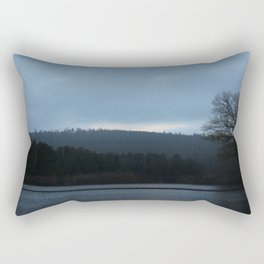 Morning Over The Invisible Lake Rectangular Pillow