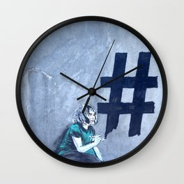 Grafitti # diese girl Wall Clock