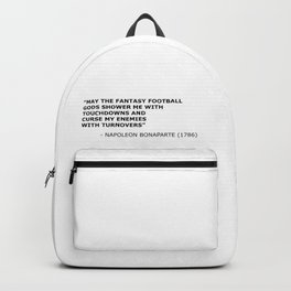 Napoleon Fantasy Football Quote Backpack