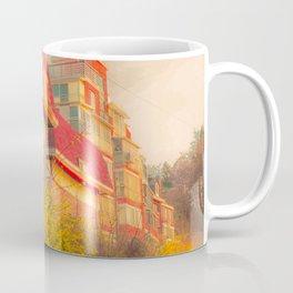 Korean house surrounded by beautiful yellow flowers Coffee Mug