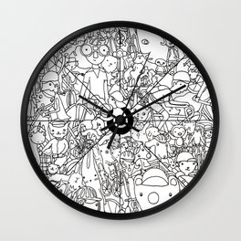 Bike Spokes & Folks Wall Clock