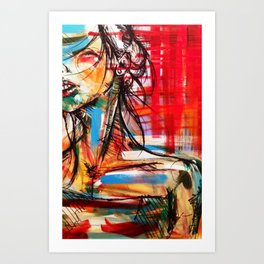 Wind Girl Art Print