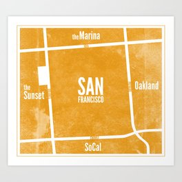 This is SF (Orange) Art Print