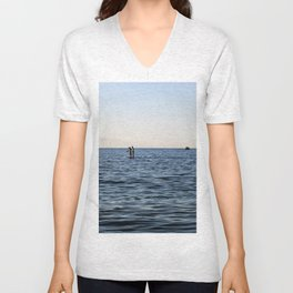 Baltic Sea - Warnemuende Beach  Unisex V-Neck