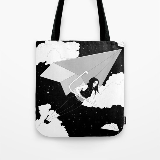 The Paper Plane Journey Tote Bag