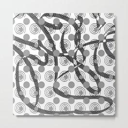 Love Laces grey Metal Print
