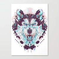 husky Canvas Prints featuring husky by yoaz