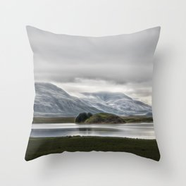 Mountains and Glaciers Iceland Throw Pillow