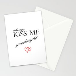 Always Kiss me Goodnight . Home Decor Graphicdesign Stationery Cards