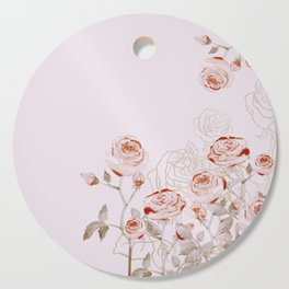 FRENCH PALE ROSES Cutting Board