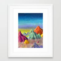 mountains Framed Art Prints featuring mountains  by Robert Deutsch