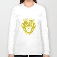 lannister Long Sleeve T-shirts featuring House Lannister - Hear Me Roar by Jack Howse