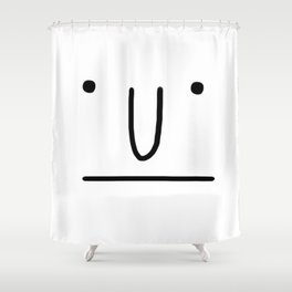 Classic Face Shower Curtain