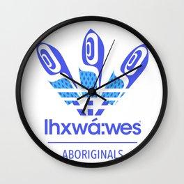 Aboriginal- Blue Eyed Grass Wall Clock