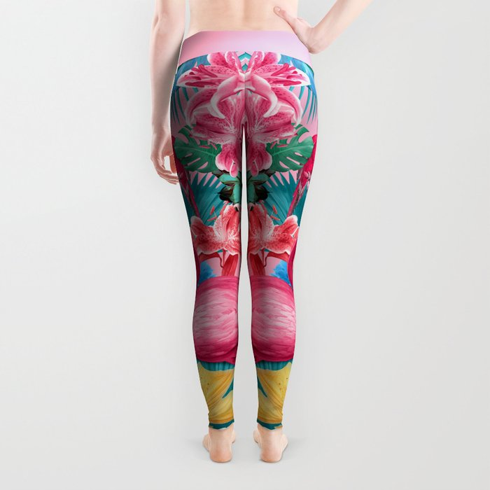 Flamingo and Tropical garden Leggings