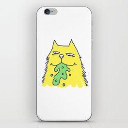 Vomit cat iPhone Skin