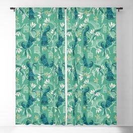 Aviary - Green Blackout Curtain