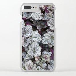 Silver Scrolls Clear iPhone Case