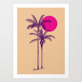 palm dream Art Print