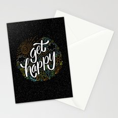 get happy Stationery Cards