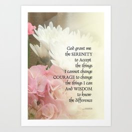 Serenity Prayer Bouquet Art Print