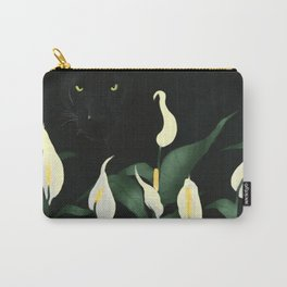 Spring Panther-Lily Carry-All Pouch