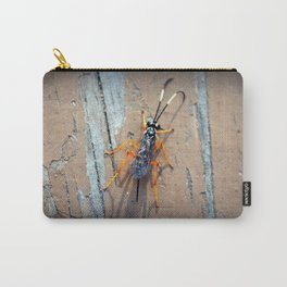 Banded Caterpillar Parasite Wasp Carry-All Pouch