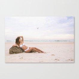 Babe on a Beach Canvas Print