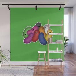 Happy Jelly Beans! (Green) Wall Mural