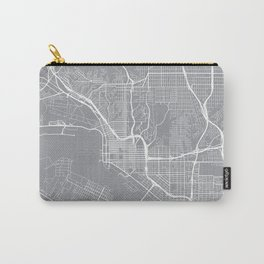 San Diego Map, California USA - Pewter Carry-All Pouch