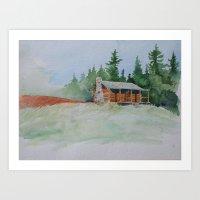 cabin Art Prints featuring Cabin by JeffAllenArtwork