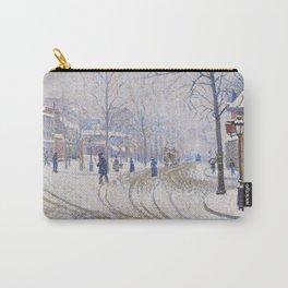 Snow, Boulevard de Clichy, Paris Carry-All Pouch