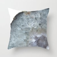 geode Throw Pillows featuring Agate Geode  by CAROL HU