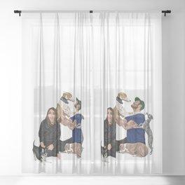 Happy Family Sheer Curtain