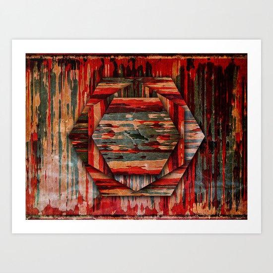 HEXAWOOD Art Print