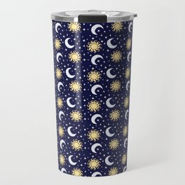 Greek Inspired Suns and Moons with Stars Travel Mug