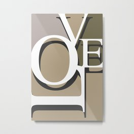 Love Typo #society6 #decor #buyart Metal Print