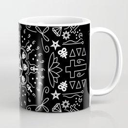 Satanic Mandala - Black Coffee Mug