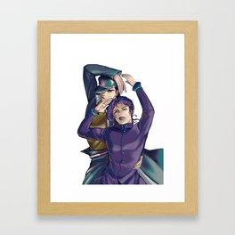 Kujo Jotaro and Kakyoin Noriaki Framed Art Print