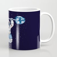 gym Mugs featuring Space Gym  by Tobe Fonseca