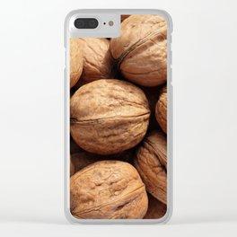 Walnuts inside nutshells Clear iPhone Case