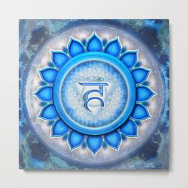 Vishuddha Chakra - Throat Chakra - Series V Metal Print
