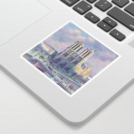 Notre-Dame de Paris by Maximilien Luce, 1900 Sticker